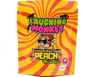 Peach-300MG-Gummy-By-Laughing-Monkey